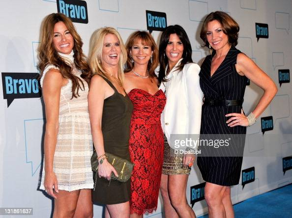 TV personalities Kelly Bensimon Alex McCord Jill Zarin Cindy Barshop and Countess LuAnn de Lesseps attend the 2011 Bravo Upfront at 82 Mercer on...