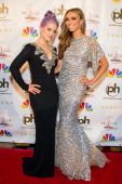 TV personalities Kelly Osbourne and Giuliana Rancic attend the 2012 Miss USA pageant red carpet at Planet Hollywood Casino Resort on June 3 2012 in...