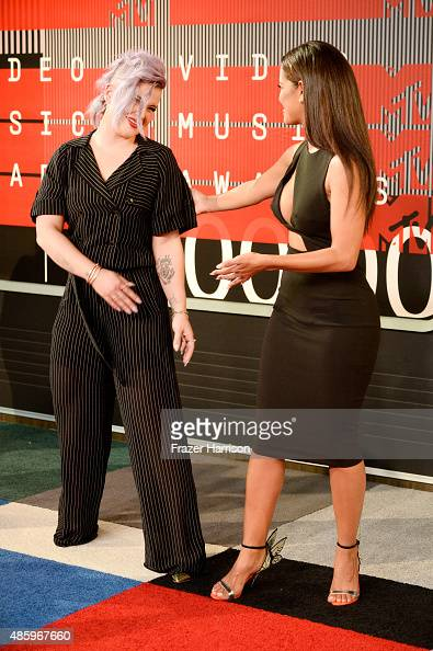 TV personalities Kelly Osbourne and Rocsi Diaz attend the 2015 MTV Video Music Awards at Microsoft Theater on August 30 2015 in Los Angeles California