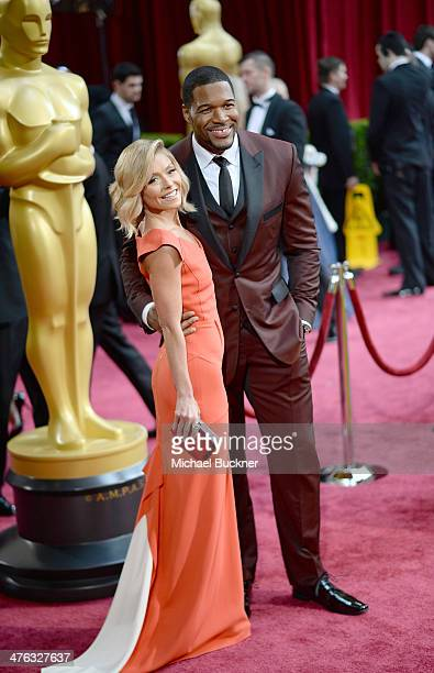 TV personalities Kelly Ripa and Michael Strahan attends the Oscars held at Hollywood Highland Center on March 2 2014 in Hollywood California