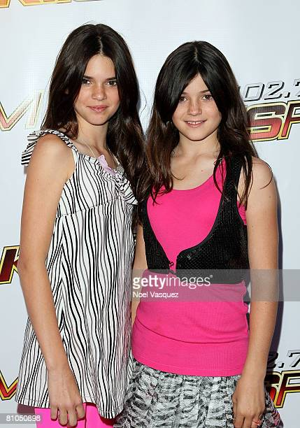 TV personalities Kendall Jenner and Kylie Jenner arrive at the KIISFM's 2008 Wango Tango concert held at the Verizon Wireless Amphitheater on May 10...