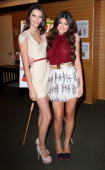 TV personalities Kendall Jenner and Kylie Jenner attend a signing for the September issue of Seventeen Magazine at Barnes Noble 3rd Street Promenade...
