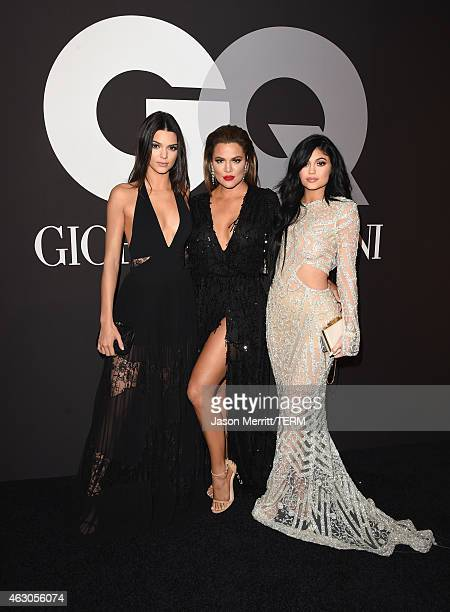 TV personalities Kendall Jenner Khloe Kardashian and Kylie Jenner attend GQ and Giorgio Armani Grammys After Party at Hollywood Athletic Club on...
