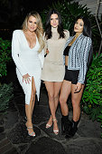 TV personalities Khloe Kardashian Kendall Jenner and Kylie Jenner attend Opening Ceremony and Calvin Klein Jeans' celebration launch of the...