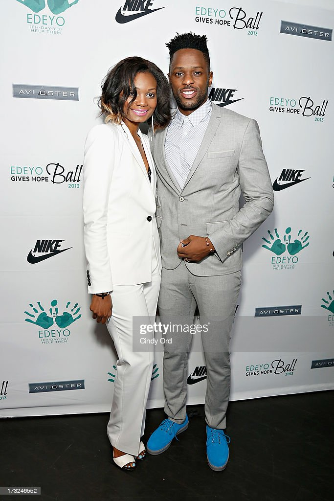 TV personalities Kim Gedeon and Alaska Gedeon attend the 2013 Edeyo Gives Hope Ball at Highline Ballroom on July 10, 2013 in New York City.