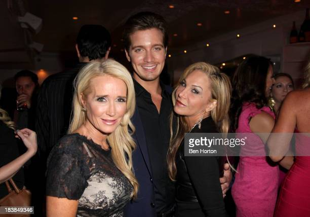 TV personalities Kim Richards Jacob Busch and Adrienne Maloof attend Hollywood in Bright Pink presented by Life Style hosted by Giuliana Rancic at...