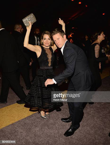 TV personalities Kit Hoover and Billy Bush attend The Weinstein Company and Netflix Golden Globe Party presented with DeLeon Tequila Laura Mercier...