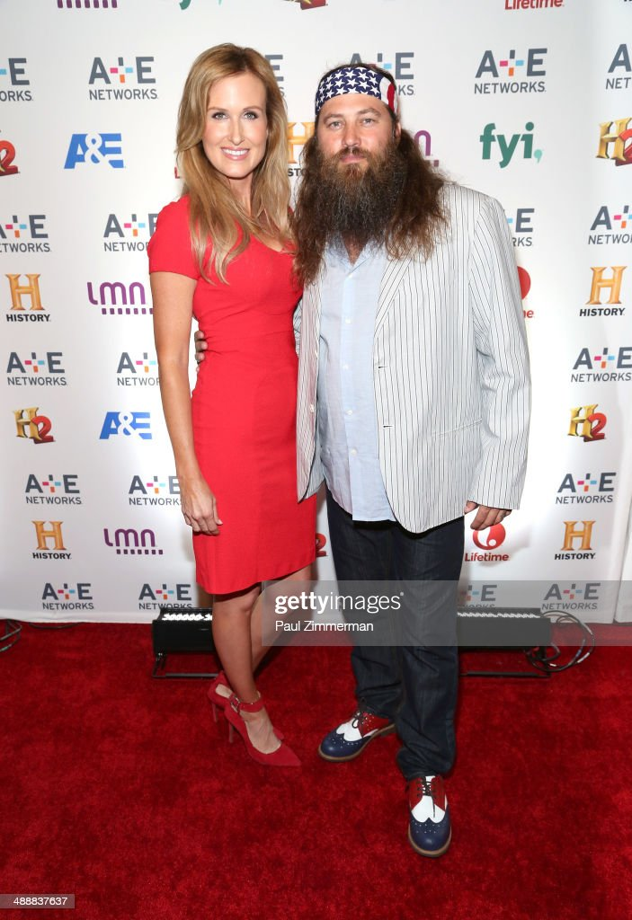 TV personalities <a gi-track='captionPersonalityLinkClicked' href=/galleries/search?phrase=Korie+Robertson&family=editorial&specificpeople=9195966 ng-click='$event.stopPropagation()'>Korie Robertson</a> (L) and <a gi-track='captionPersonalityLinkClicked' href=/galleries/search?phrase=Willie+Robertson&family=editorial&specificpeople=2788954 ng-click='$event.stopPropagation()'>Willie Robertson</a> attend the 2014 A+E Networks Upfront at Park Avenue Armory on May 8, 2014 in New York City.