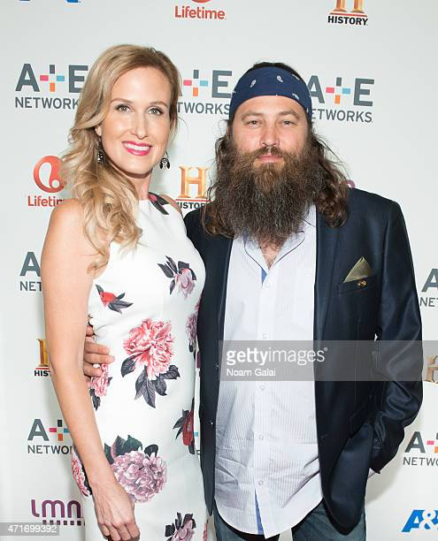 TV personalities Korie Robertson and Willie Robertson attend the 2015 AE Network Upfront at Park Avenue Armory on April 30 2015 in New York City
