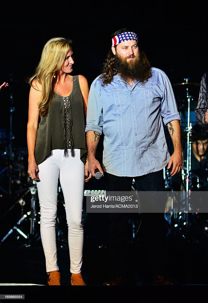TV personalities Korie Robertson and Willie Robertson onstage at the ACM Party For A Cause Festival during the 48th Annual Academy of Country Music Awards at the Orleans Arena on April 6, 2013 in Las Vegas, Nevada.
