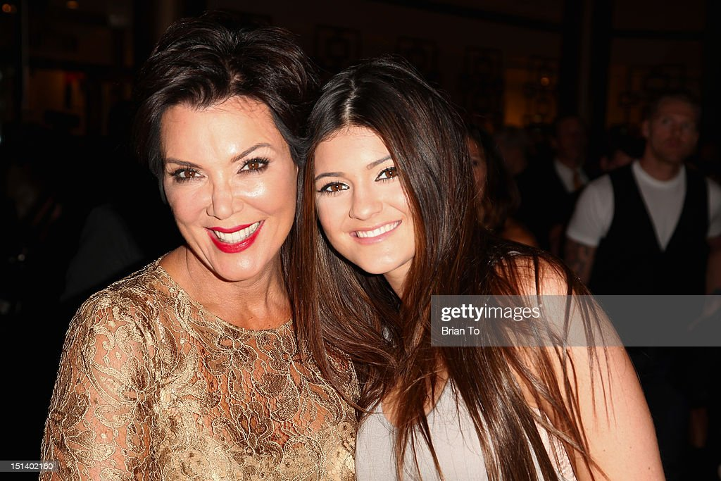 TV personalities Kris and Kylie Jenner attend Fashion's Night Out 2012 at Beverly Center on September 6 2012 in Los Angeles California