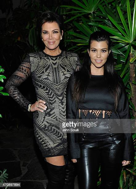 TV personalities Kris Jenner and Kourtney Kardashian attend Opening Ceremony and Calvin Klein Jeans' celebration launch of the #mycalvins Denim...