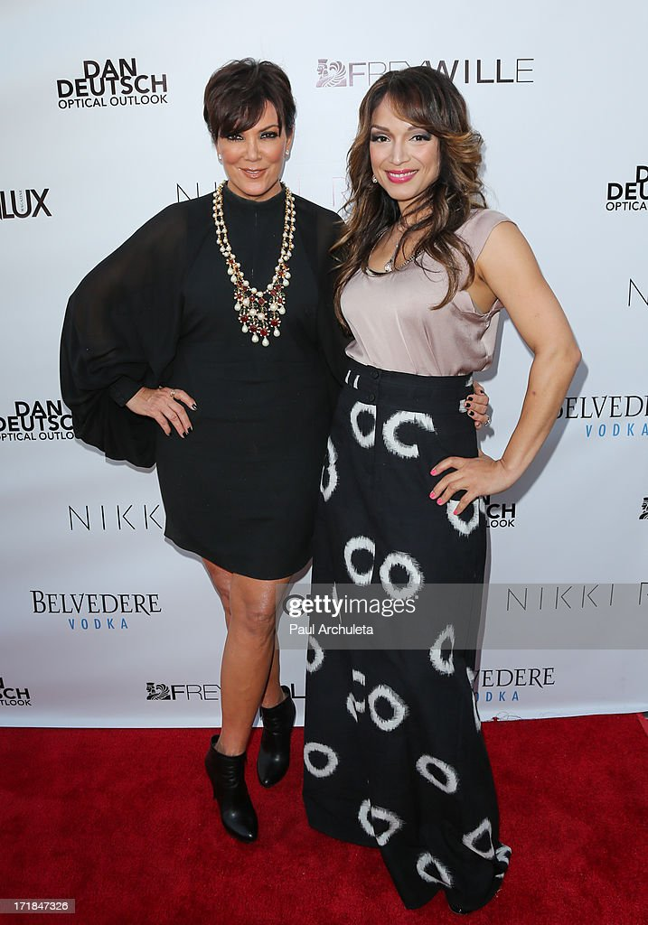 TV Personalities Kris Jenner (L) and Mayte Garcia (R) attend the Genlux Magazine summer issue release party at the Luxe Rodeo Drive Hotel on June 28, 2013 in Beverly Hills, California.