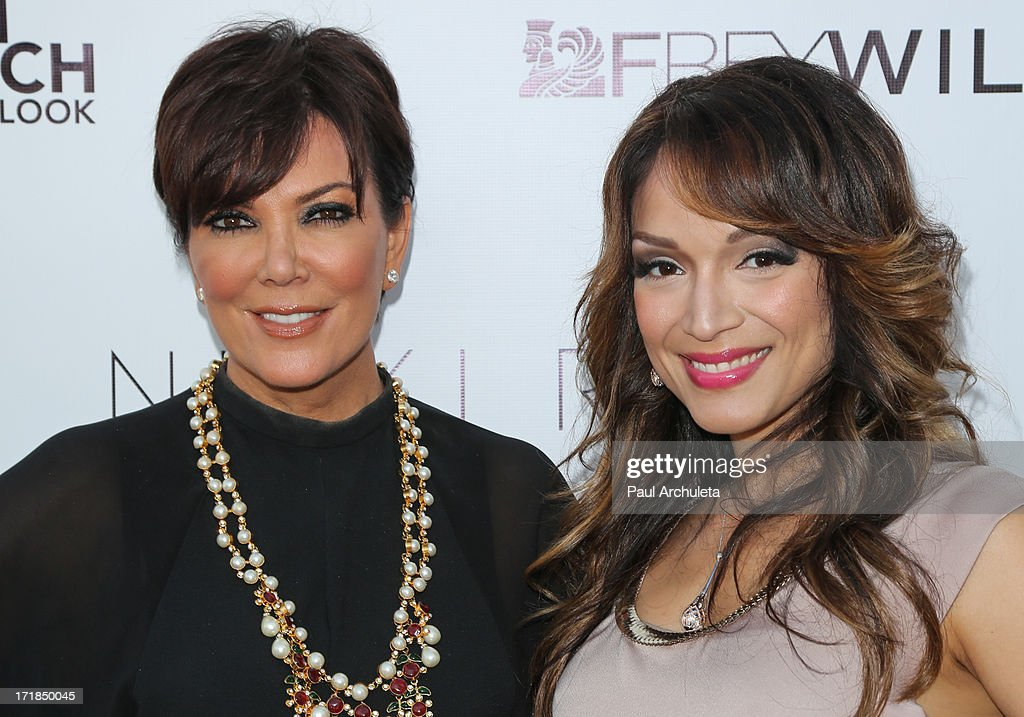 TV Personalities <a gi-track='captionPersonalityLinkClicked' href=/galleries/search?phrase=Kris+Jenner&family=editorial&specificpeople=762610 ng-click='$event.stopPropagation()'>Kris Jenner</a> (L) and Mayte Garcia attend the Genlux Magazine summer issue release party at the Luxe Rodeo Drive Hotel on June 28, 2013 in Beverly Hills, California.