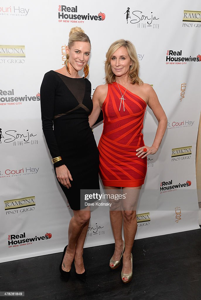 TV personalities Kristen Taekman (L) and <a gi-track='captionPersonalityLinkClicked' href=/galleries/search?phrase=Sonja+Morgan&family=editorial&specificpeople=6346743 ng-click='$event.stopPropagation()'>Sonja Morgan</a> attends the 'The Real Housewives Of New York City' season six premiere party at Tokya on March 12, 2014 in New York City.