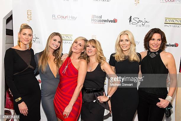 TV personalities Kristen Taekman Ramona Singer Sonja Morgan Aviva Drescher Heather Thomson and Countess LuAnn De Lesseps attend the 'The Real...
