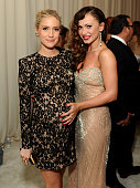 TV personalities Kristin Cavallari and Karina Smirnoff attend the 22nd Annual Elton John AIDS Foundation Academy Awards viewing party with Chopard at...