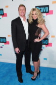TV personalities Kroy Biermann and Kim Zolciak of 'Don't Be Tardy' attend the 2013 Bravo Upfront at Pillars 37 Studios on April 3 2013 in New York...