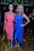 TV personalities Kyle Richards and Kim Richards attend REVOLT and The National Cable and Telecommunications Association's Celebration of Cable at...