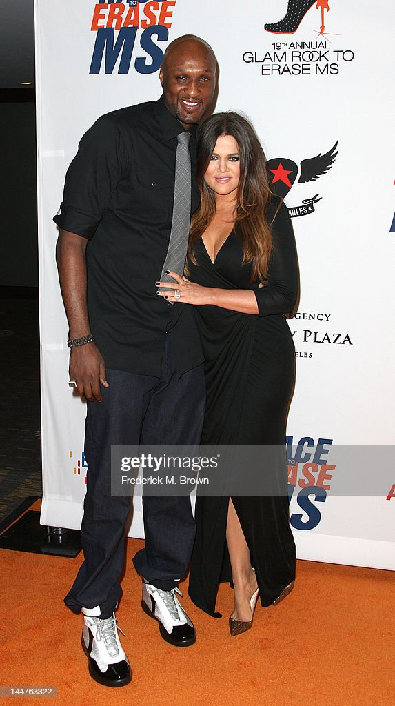 TV Personalities <a gi-track='captionPersonalityLinkClicked' href=/galleries/search?phrase=Lamar+Odom&family=editorial&specificpeople=201519 ng-click='$event.stopPropagation()'>Lamar Odom</a> (L) and Khole Kardashian attend the 19th Annual Race To Erase MS - 'Glam Rock To Erase MS' event at the Hyatt Regency Century Plaza on May 18, 2012 in Century City, California.