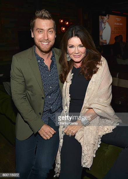 TV personalities Lance Bass and Lisa Vanderpump attend Logo's 'Finding Prince Charming' Premiere Screening And Reception at HYDE Sunset Kitchen...