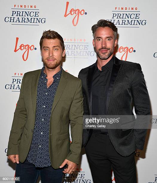 TV personalities Lance Bass and Robert Sepulveda Jr attend Logo's 'Finding Prince Charming' Premiere Screening And Reception at HYDE Sunset Kitchen...