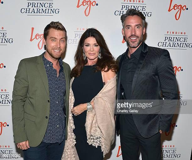 TV personalities Lance Bass Lisa Vanderpump and Robert Sepulveda Jr attend Logo's 'Finding Prince Charming' Premiere Screening And Reception at HYDE...