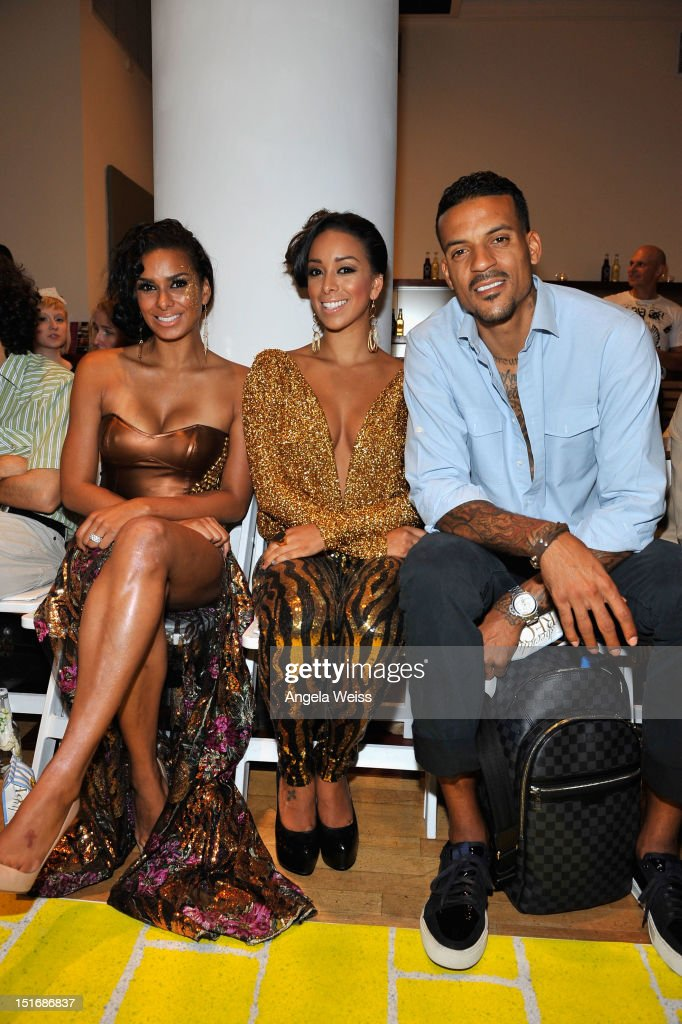TV personalities Laura Govan and <a gi-track='captionPersonalityLinkClicked' href=/galleries/search?phrase=Gloria+Govan&family=editorial&specificpeople=7070564 ng-click='$event.stopPropagation()'>Gloria Govan</a> with NBA player <a gi-track='captionPersonalityLinkClicked' href=/galleries/search?phrase=Matt+Barnes+-+Basketball+Player&family=editorial&specificpeople=202880 ng-click='$event.stopPropagation()'>Matt Barnes</a> attend the Anna Francesca Spring 2013 fashion show during Mercedes-Benz Fashion Week at Helen Mills Event Space on September 9, 2012 in New York City.