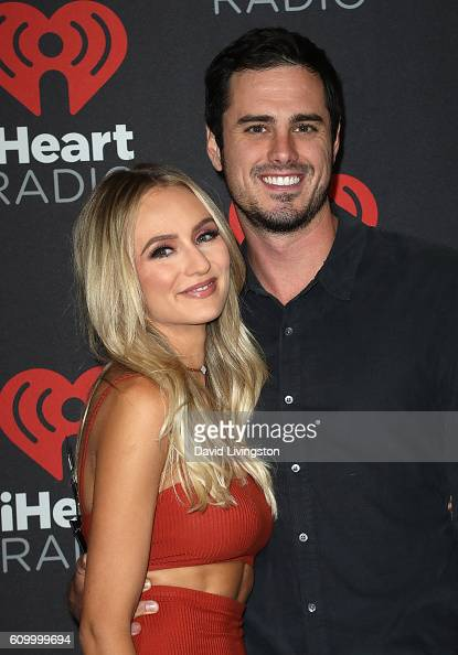 TV personalities Lauren Bushnell and Ben Higgins attend the 2016 iHeartRadio Music Festival Night 1 at TMobile Arena on September 23 2016 in Las...