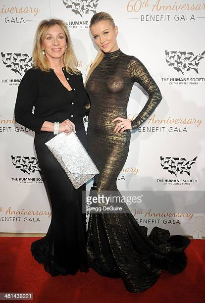 TV personalities Lea Black and Joanna Krupa arrive at The Humane Society Of The United States 60th anniversary benefit gala at The Beverly Hilton...