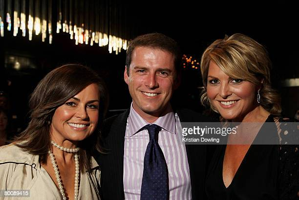TV personalities Lisa Wilkinson and Karl Stefanovic attend the L'Oreal Paris Runway 1 show as part of the L'Oreal Melbourne Fashion Festival at the...