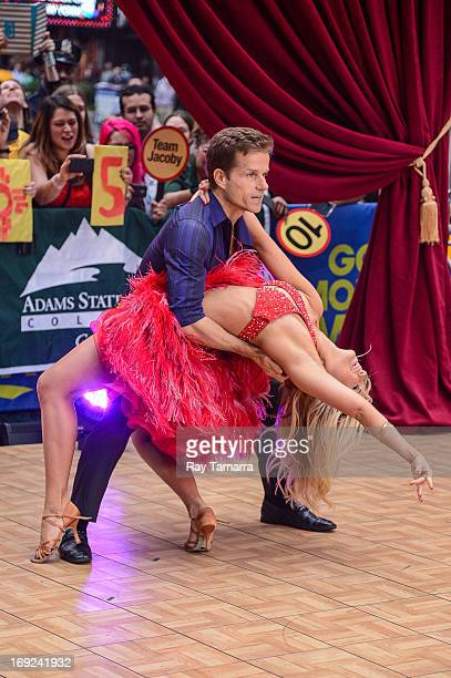 TV personalities Louis Van Amstel and Chelsea Hightower perform at the 'Good Morning America' taping at the ABC Times Square Studios on May 22 2013...