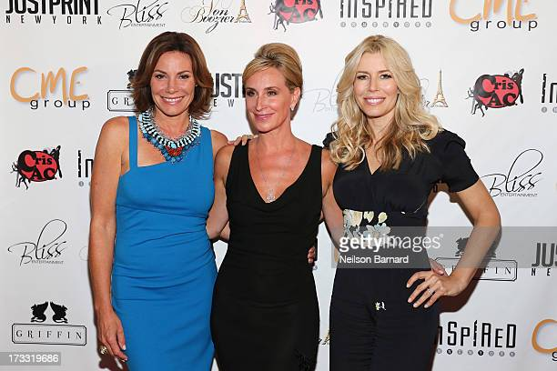 TV personalities LuAnn de Lesseps Sonja TremontMorgan and Aviva Drescher attend the 'Inspired In New York' Event on July 11 2013 in New York United...