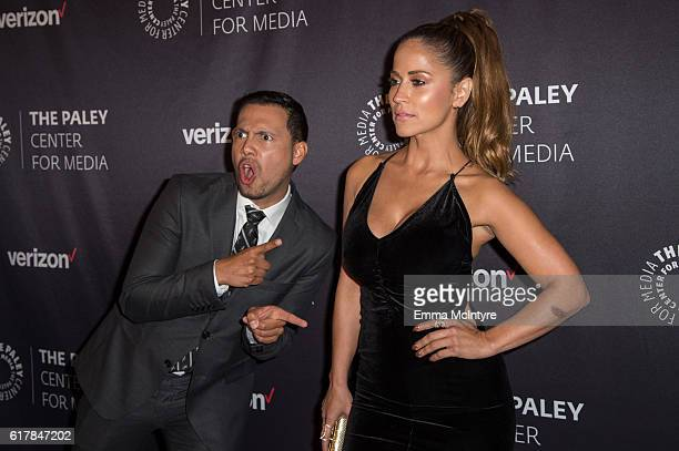 TV personalities Luis Sandoval and Jackie Guerrido arrive at The Paley Center for Media's Hollywood Tribute to Hispanic Achievements in Television...
