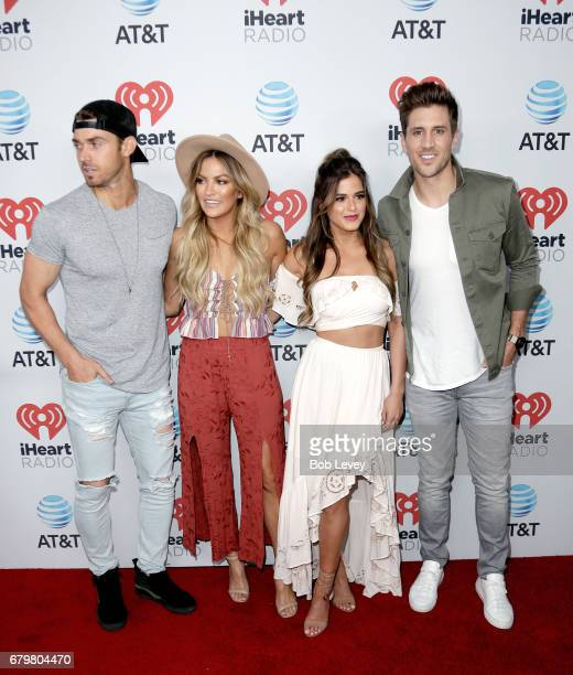 TV personalities Luke Pell Becca Tilly JoJo Fletcher and Jordan Rodgers attend the 2017 iHeartCountry Festival A Music Experience by ATT at The Frank...