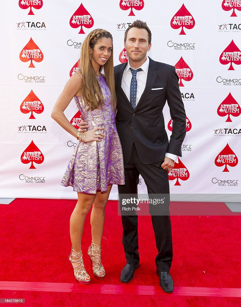 TV personalities Lydia McLaughlin and Doug McLaughlin arrive at the 7th Annual Ante Up For Autism Event At The St. Regis Monarch Beach Resort on October 12, 2013 in Dana Point, California.