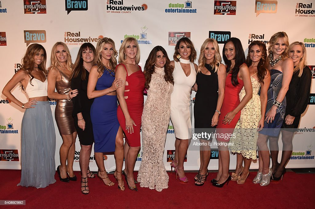 TV personalities Lydia McLaughlin Peggy Tanous Jeana Keough Alexis Bellino Vicki Gunvalson Lynne Curtin Kelly Dodd Lauri Peterson Jo De La Rosa...