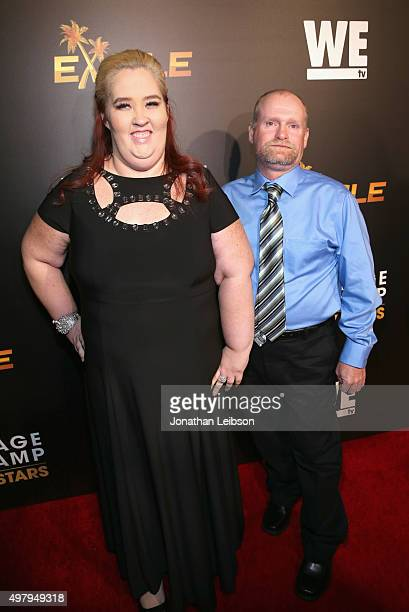 TV personalities Mama June and Sugar Bear attend the WE tv premiere of 'Marriage Boot Camp' Reality Stars and 'Exisled' on November 19 2015 in Los...