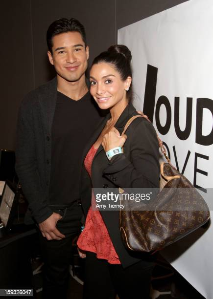 TV personalities Mario Lopez and Courtney Lopez attends Kari Feinstein's PreGolden Globes Style Lounge at the W Hollywood on January 11 2013 in...