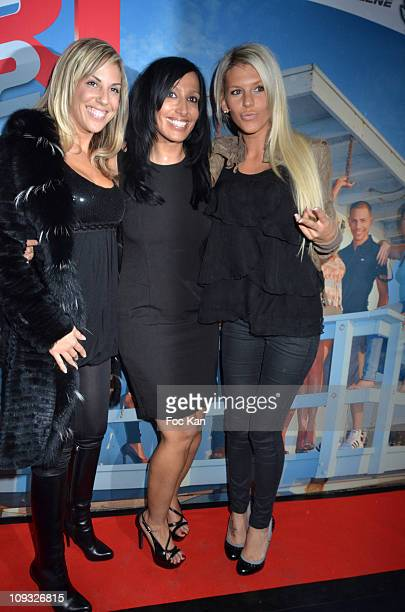 TV personalities Marlene Duval from 'Loft Story 2' Diana Jones from 'Ile De La Tentation 1' and Amelie Neten from 'Secret Story 4' attend 'Les Anges...