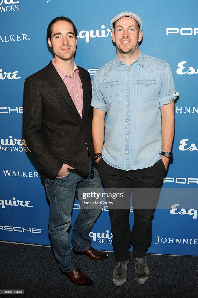 TV personalities Martin Dickie (L) and <a gi-track='captionPersonalityLinkClicked' href=/galleries/search?phrase=James+Watt&family=editorial&specificpeople=78982 ng-click='$event.stopPropagation()'>James Watt</a> of BrewDog attend the Esquire 80th anniversary and Esquire Network launch celebration at Highline Stages on September 17, 2013 in New York City.