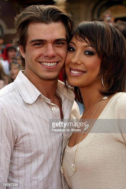 TV personalities Matthew Lawrence and Cheryl Burke attend the premiere of Walt Disney's 'Pirates Of The Caribbean At World's End' held at Disneyland...