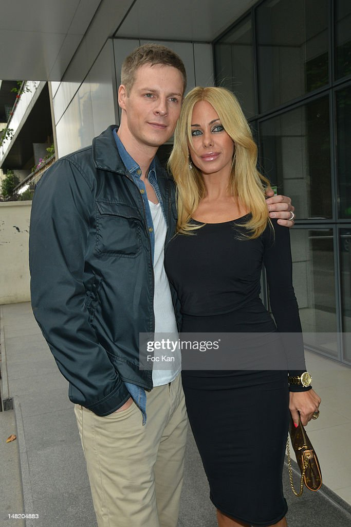 TV personalities Matthieu Delormeau and <a gi-track='captionPersonalityLinkClicked' href=/galleries/search?phrase=Shauna+Sand&family=editorial&specificpeople=797025 ng-click='$event.stopPropagation()'>Shauna Sand</a> attend the NRJ 12 Reality TV Press Conference at NRJ 12 Studio on July 12, 2012 in Paris, France.