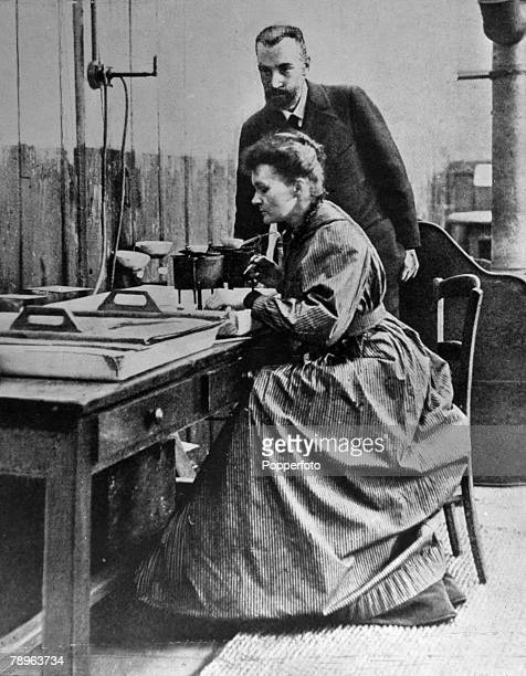 Personalities Medicine Science/Health pic circa 1903 Marie Curie 18671934 pictured with her husband Pierre in the laboratory Marie Curie won the 1903...