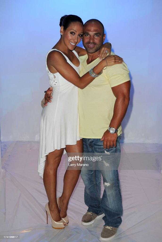TV personalities <a gi-track='captionPersonalityLinkClicked' href=/galleries/search?phrase=Melissa+Gorga&family=editorial&specificpeople=7306775 ng-click='$event.stopPropagation()'>Melissa Gorga</a> and Joe Gorga attend the L*Space By Monica Wise show during Mercedes-Benz Fashion Week Swim 2014 at Cabana Grande at the Raleigh on July 21, 2013 in Miami, Florida.