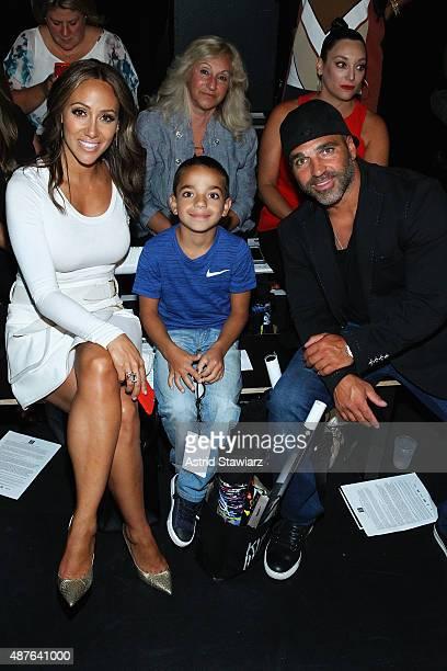 TV personalities Melissa Gorga Joe Gorga and son Gino Gorga attend the Nike/Levi's Kids Rock fashion show during Spring 2016 New York Fashion Week at...