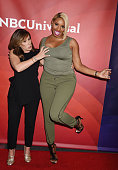 TV personalities Melissa Rivers and Nene Leakes arrive at the 2016 Summer TCA Tour NBCUniversal Press Tour at the Four Seasons Hotel Westlake Village...