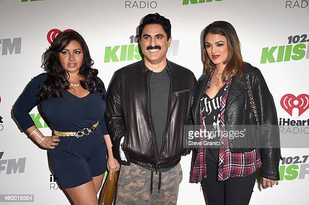 TV personalities Mercedes 'MJ' Javid Reza Farahan and Golnesa 'GG' Gharachedaghi attend KIIS FM's Jingle Ball 2014 powered by LINE at Staples Center...