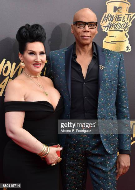 TV personalities Michelle Visage and RuPaul attend the 2017 MTV Movie And TV Awards at The Shrine Auditorium on May 7 2017 in Los Angeles California
