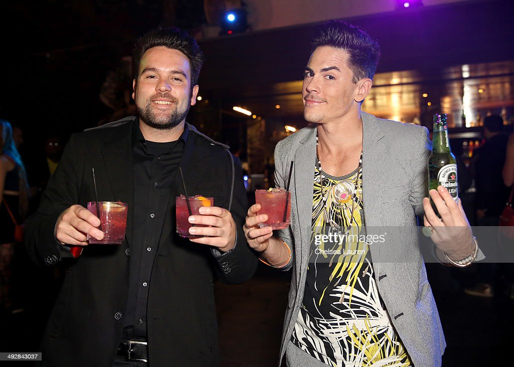 TV personalities Mike Shay and Tom Sandoval attend OK Magazine's So Sexy L.A. Event at LURE on May 21, 2014 in Los Angeles, California.